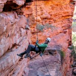 Abseiling the red gorges of Western Australia