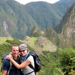 Reaching the lost city of Machu Picchu after four day Inca Trail trek through the Andes