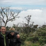 Above cloud level Mount Kinabalu, Borneo