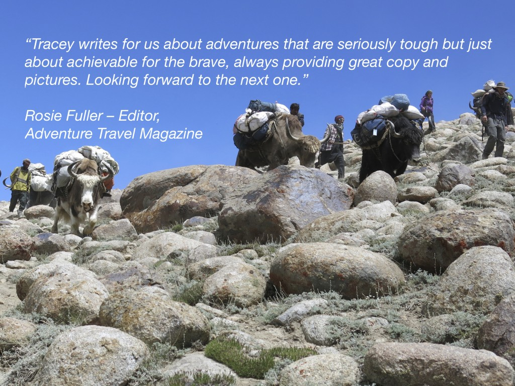 Testimonial Adventure Travel Magazine Tracey croke