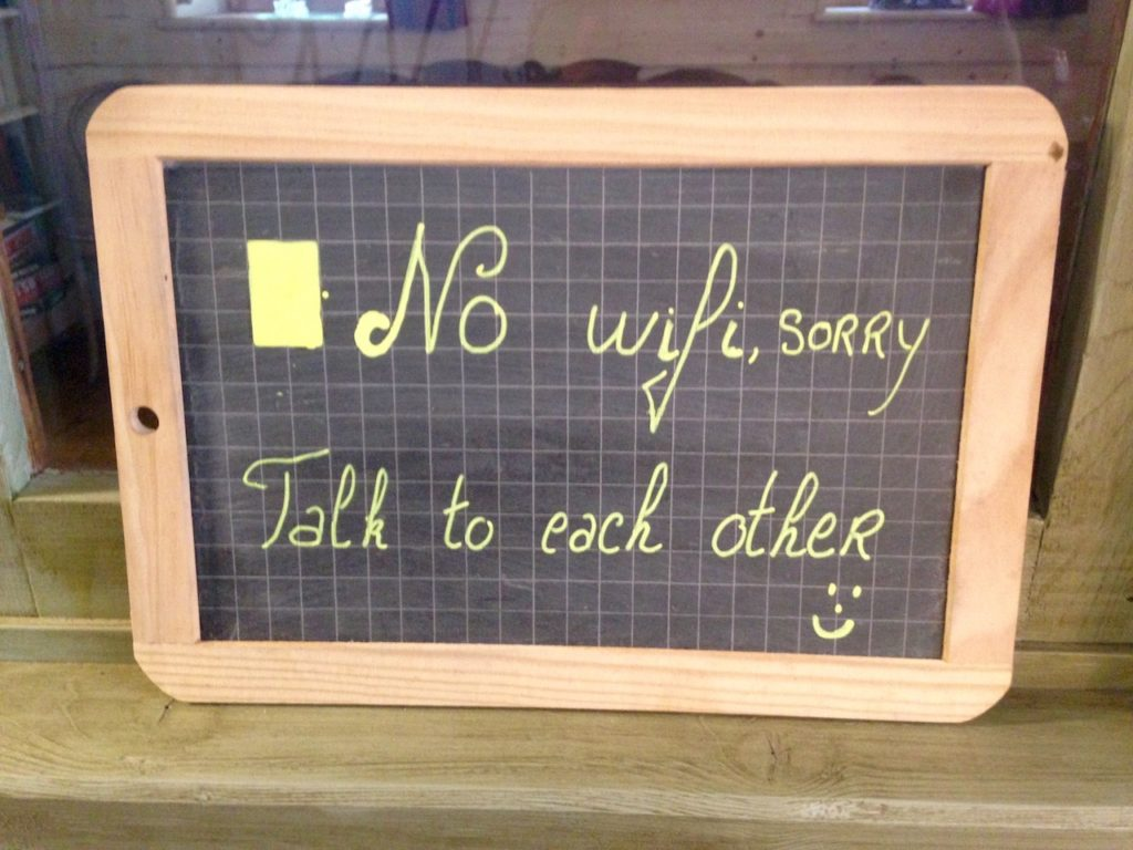 Sign no wifi talk to each other