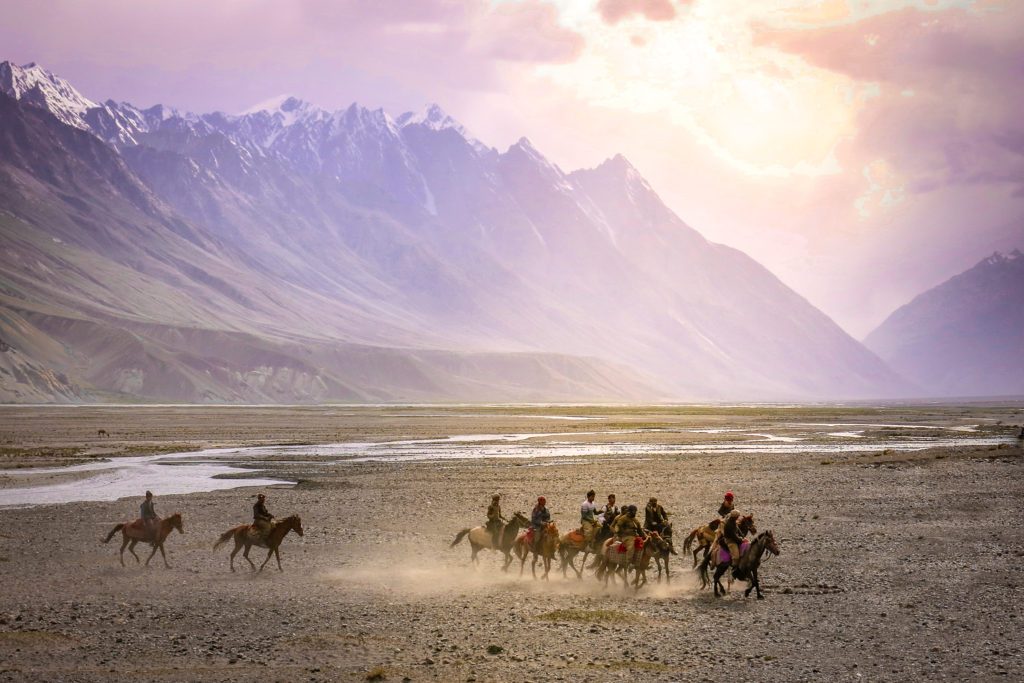 Local tribes playing Buzkashi in the Wakhan Afghanistan